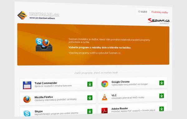 software.seznam.cz/instalator – Bezobslužná instalace aplikací