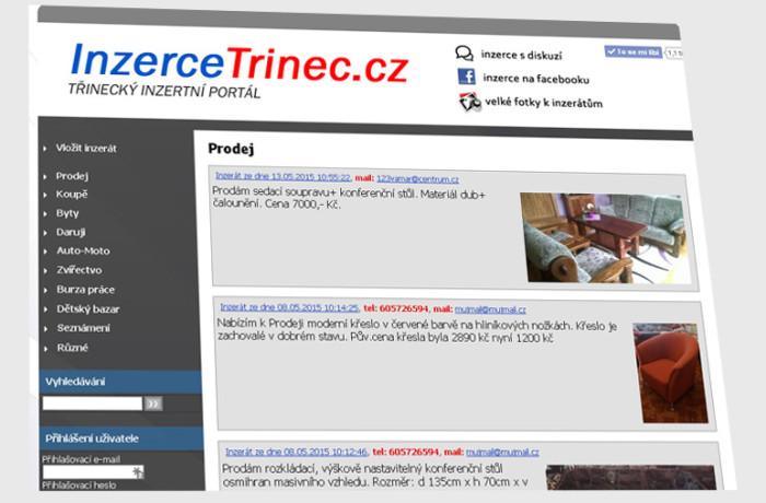 inzercetrinec.cz – Třinecký inzertní server