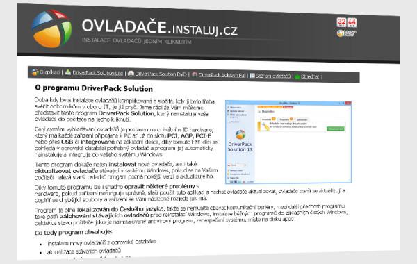 ovladace.instaluj.cz – instalace ovladačů jedním kliknutím