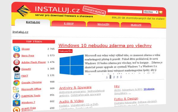 INSTALUJ.CZ – přehledný katalog software