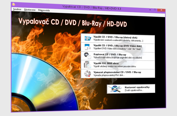 Vypalovač CD / DVD / Blu-Ray / HD-DVD